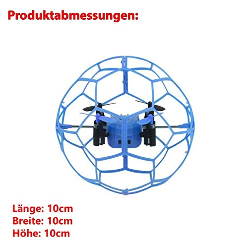 HSP Himoto 4-Kanal RC ferngesteuertes UFO-Modell, Käfig Schutz, Drohne Quadcopter Multicopter mit 2,4GHz-Technik, 6-axis 3D Gyro, Ready-to-Fly Komplett-Set inkl. Crash-Kit