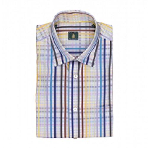 Robert Talbott Iris Plaid Classic Fit Anderson Sport Shirt M