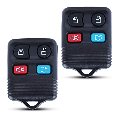 2 Replacement Keyless Entry Smart Remote Control Key Fob Clicker Transmitter fits Ford, Lincoln, Mercury, Mazda Mustang (CWTWB1U345)