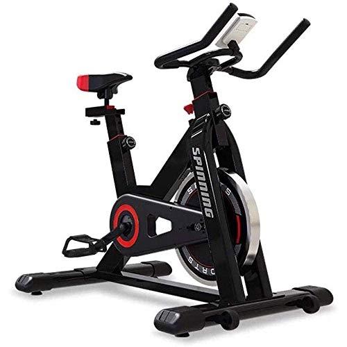GJJSZ Bicicleta estática con transmisión por Correa,Bicicleta de Interior,Bicicleta de Ejercicio silenciosa para el hogar,Equipo de Fitness,Bicicleta de Ejercicio Masculina
