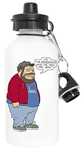 I'm the Spoonman - Doughboys Deporte Viaje Blanco Botella De Agua Metal Prueba de Fugas Sport Travel White Water Bottle Leak-Proof
