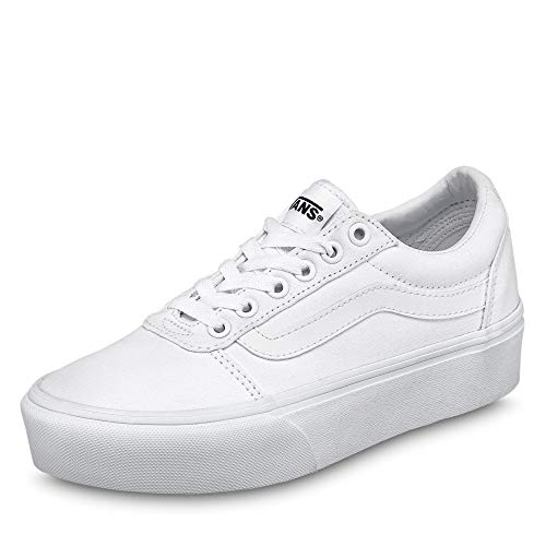 Vans Ward Platform Canvas, Sneaker para Mujer, Color Blanco, 37 EU