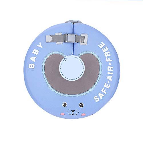LXMBox Cuello del Anillo del Flotador de la natación del bebé / Anillo del Cuello del recién Nacido / Flotador Infantil, Inflable Gratuito, Ajustable, para Piscina de natación para niños,Purple