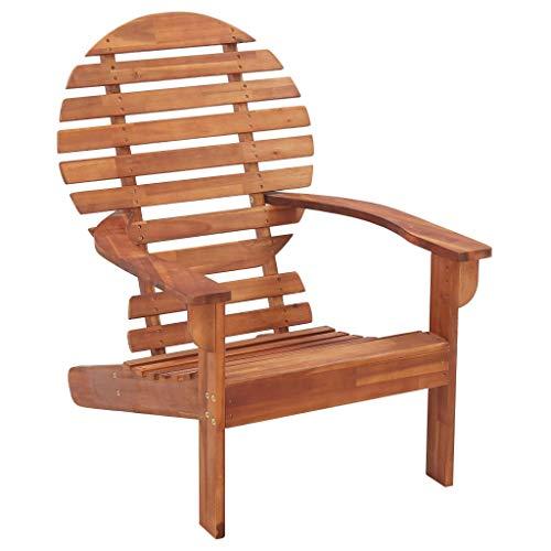 Irfora Garden Chair Hardwood Adirondack Chair Deck Chair Weather-resistant 69 x 96 x 89 cm Solid Acacia Wood