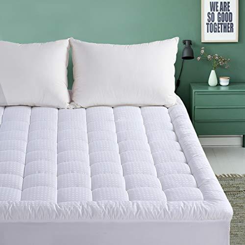 EMONIA Queen Mattress Pad - Pillow Top Fitted Mattress Pad Cover (Deep Pocket 8'-21'), 300TC Down...