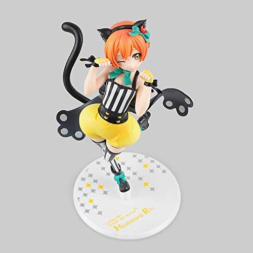 KPSHY LoveLive Anime Starry Sky Rin Cat Girl Figura Muñeca Decoración Versión Premium Estatua Muñeca Escultura Juguete Decoración Modelo Muñeca Altura 23cm