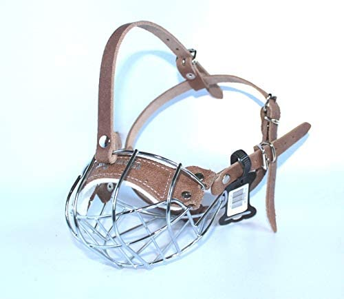 LJ 25% Max 84% OFF OFF Pets Uk Strong Metal Wire Muzzle Bul Basket American Dog for