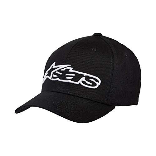 Alpinestars Blaze Flexfit Hat Gorra de béisbol, Blanco Negro, S/M para Hombre