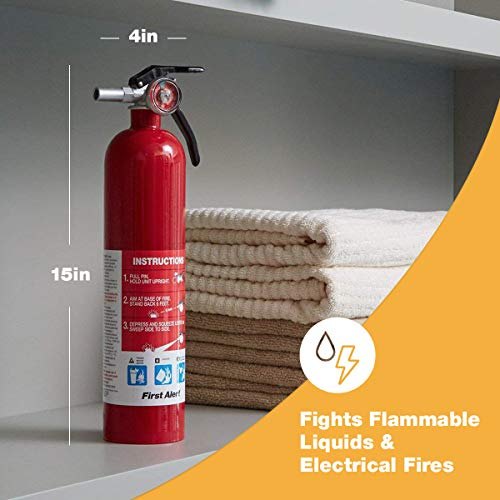 First Alert FE1A10GR195 Standard Home Fire Extinguisher, Red