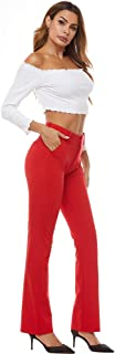 iChosy Women's Ease into Comfort Barely Bootcut Stretch Dress Pants