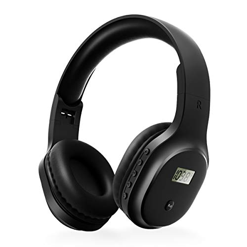 Rechargeable and Portable Personal FM Radio Headphones with Best Reception, Walkman Wireless Headset FM Radio Ear Muffs for Jogging,Mowing, Cycling.Meeting FM Receiver