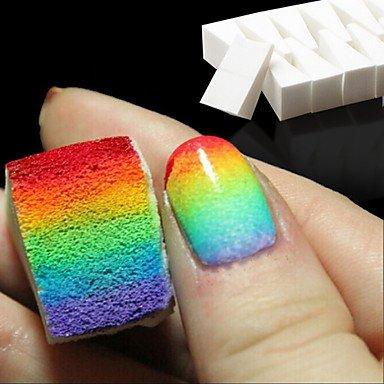 MZP 8pcs ongles outils art gradient éponges douces pour la décoloration manucure accessoires bricolage ongles créatif fournitures