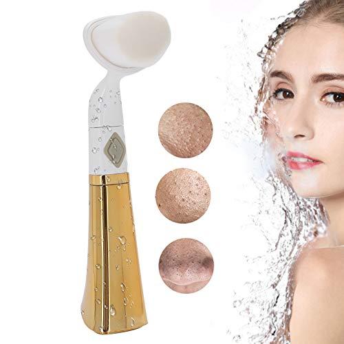 Cepillo facial eléctrico, Cepillo de limpieza facial Dispositivo de limpieza facial Limpiador de poros de la piel de la cara del hogar Limpieza profunda Masajeador Cepillo de eliminación(Oro)