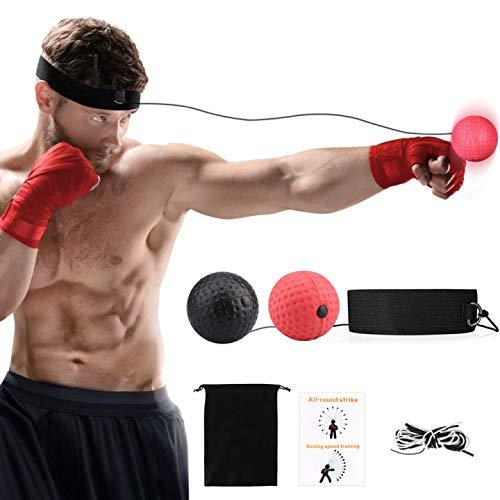 Eyscoco Boxtraining,Boxtraining Ball,Reflex Fightball Speedball, Punch Boxing Ball Mit Kopfband,Für Boxtraining Trainingsgerät Für Leistungssteigerung Im Boxen