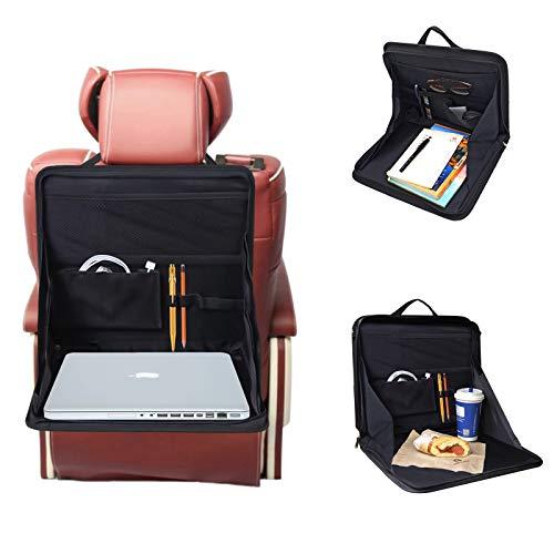 ZONSUSE Jiele Car Back Seat Storage Tray Bag Laptop Holder Tray Mount Back Seat Auto Food Work Table Organizer (Black)