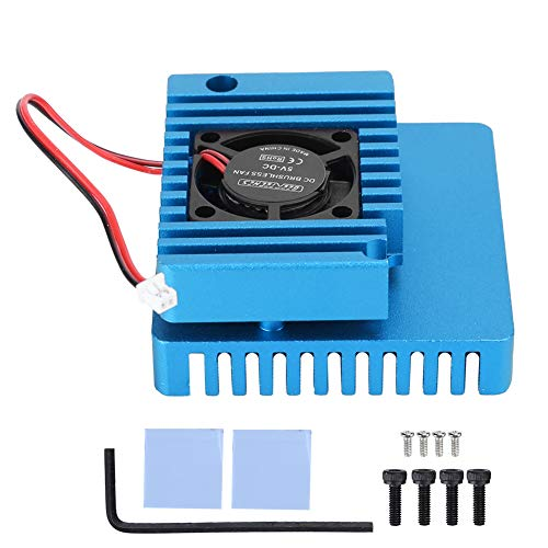 Price comparison product image Lazmin112 Aluminum Alloy Case,  Aluminum Alloy Cooling Shell Heat Sink with Cooling Fan