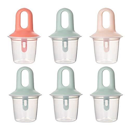 Ice Pop Molds Set para hacer paletas de hielo Kits de moldes para paletas de hielo con palos, herramientas de moldes de helado de silicona reutilizables sin BPA DIY para la cocina
