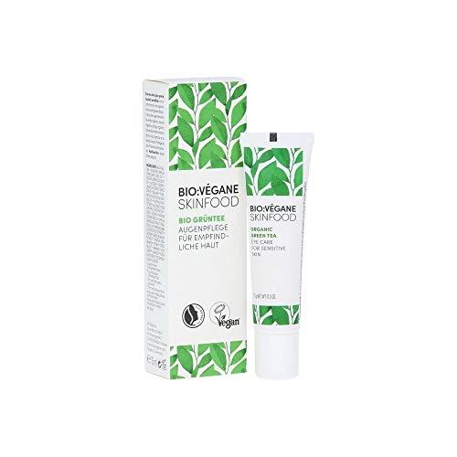 Bio?: Végane Skinfood Bio Thé Vert – Soin des yeux pour peaux sensibles, végétalien, certification natrue, schützend, cosmétique naturel pour les peaux sensibles, 1er Pack (1 x 15 ml)