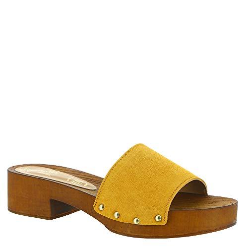 Seychelles Women's Good Spirits Heeled Sandal, Mustard, 8.5 M US