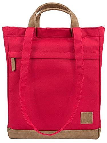 TOTEPACK 2 in 1 Rucksack-Tasche ROT Umhängetasche Damen Shopper Tote-Bag | UNRIVALED