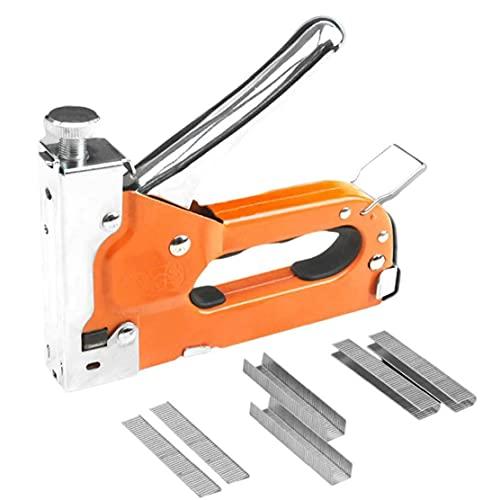Herramientas de mano, Nailer manual Nailer Kit de grapas de trabajo pesado con 600 grapas para muebles de carpintería de bricolaje