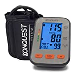 Konquest KBP-2704A Automatic Upper Arm Blood Pressure Monitor with Backlit Display - Accurate, Large Adjustable Cuff - Irregular Heartbeat & Hypertension Detector - Tensiometro Digital
