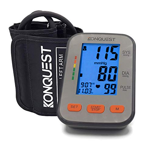 Konquest KBP-2704A Automatic Upper Arm Blood Pressure Monitor with Backlit...