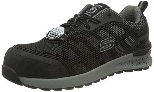 Skechers BULKLN LYNDALE, Zapato Industrial Mujer, Black, 39.5 EU