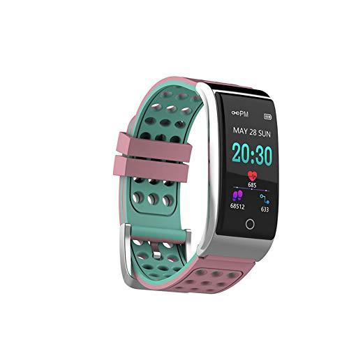 CHENG Reloj Deportivo con Monitor de Ritmo cardíaco con podómetro Calorie Step Counter Smartwatch para Mujeres