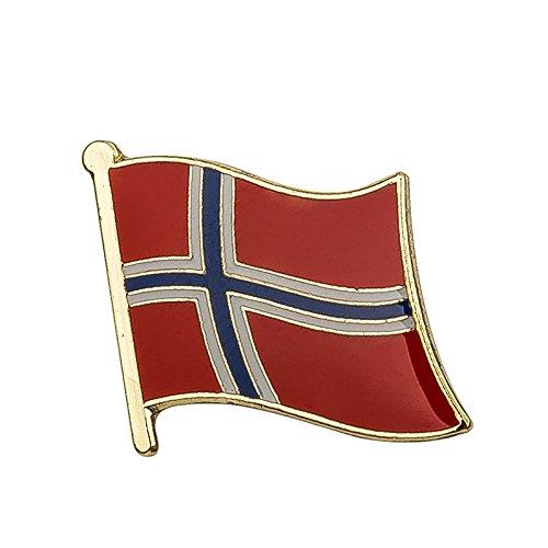 Patch Nation Noruega Bandera de Noruega Metal Pin Badge