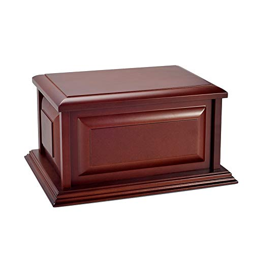 Wood Urn, Professional Wooden Urns for Human Ashes Adult,Burial-Cremation Urns (MDF)