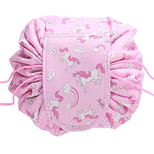 Fako Fashion® - Magic Travel Pouch - Cosmetic Opberg Tas - Make-up Opbergsysteem - Make-up Toilettas - Reistas - Cosmetica Accessoires Organiser - Handige Toilettas - Unicorn