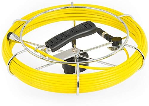 DURAMAXX Inspex - Ersatzkabel mit Einer Länge von 20m für Inspektionskamera, Kompatibel mit Inspex 2000, Glasfaser-Ersatzzubehör, Metallspule & Griffspule, Kabel, Zubehör, passgenau, schwarz