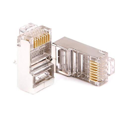 Domybest 8 Pin RJ45-stekker, modulaire netwerkaansluiting, RJ45, adapter voor ethernetkabel en 802.11 Rj45, 100 stuks