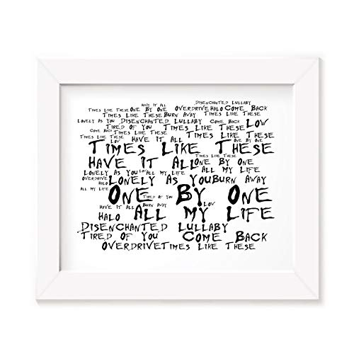 FOO Fighters Art Print - One by One - Unframed Lyrics Poster