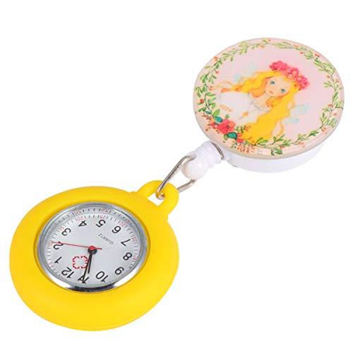 NICERIO Reloj de Enfermera- Fob Reloj Retráctil Clip en El Reloj Médico Reloj de Bolsillo Colgante Reloj de Enfermera Reloj Telescópico Fob Reloj de Regalo para Mujeres Enfermera Doctor