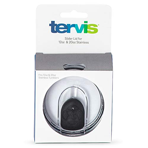 Tervis Clear and Black Slider Lid for Stainless Steel Tumblers, For 12 oz and 20 oz