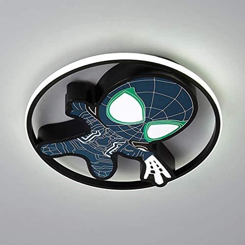 ZQQ Spiderman LED Lámpara De Techo para Habitación Infantil con Control Remoto Regulable Lámpara De Techo De Dibujos Animados para Niños Marvel Superhero Lámpara para Niños Dormitorio,45cm