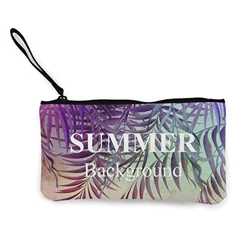 Summer Art Poster Canvas Wallet Exquisite Coin Purses Small Canvas Coin Purse is Used to Hold Coin Change, ID and Other