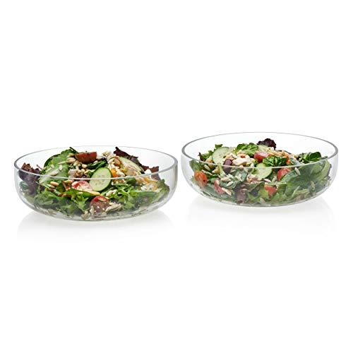Libbey Prologue Handmade Glass Serving Bowls, Medium, Set of 2