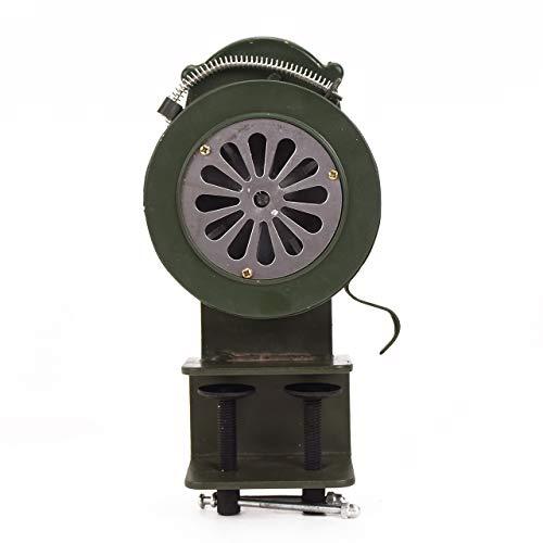 Zunbo - Alarma de seguridad manual con manivela portátil, manivela de sirena manual, alarma de metal portátil para seguridad de emergencia (LK-100B)