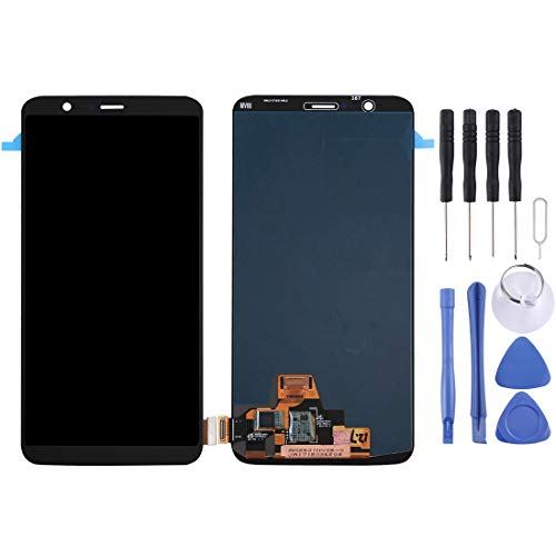 ELECTRONICS MobilePhone REPLACEMENT PART SMART for OnePlus 5T LCD-scherm en Digitizer Volledige Vergadering (zwart) (Color : Black)