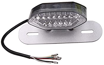 Clear LED Motorcycle Brake Tail Turn Signal License Plate Integrated Light For 2005 Yamaha YZF600R