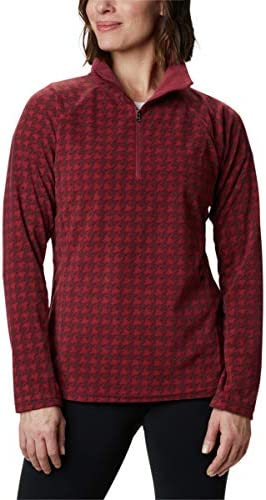 Columbia Women s Glacial IV Print Half Zip Marsala Red Houndstooth X Small product image
