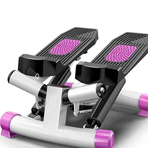 Ababy Mini Stepper Multifunktions Mute Swing Side Stepper Heimtrainer Mit Zugbändern Kalorien und Schrittzahl Fitness Geräte für Zuhause Sport, Bis 150kg