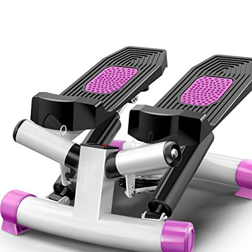Ababy Mini Stepper Multifunktions Mute Swing Side Stepper Heimtrainer Mit Zugbändern Kalorien und Schrittzahl Fitness Geräte für Zuhause Sport, Bis 150kg