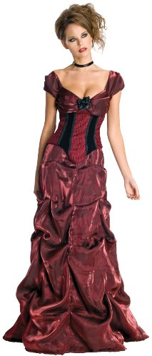 Secret Wishes womens Secret Wishes Dark Rose Costume Dress Party Supplies, As Shown, Large US