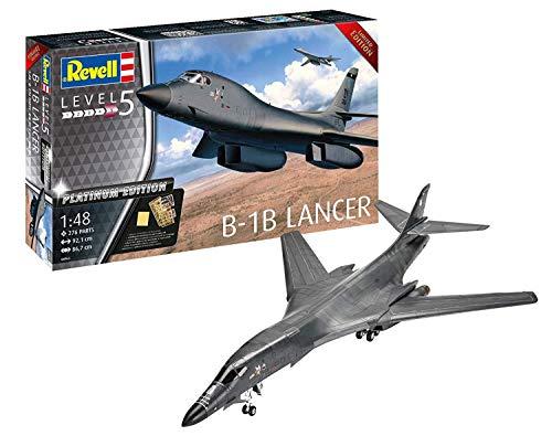 Revell 04963 Platinum Edition B-1B Lancer originalgetreuer Modellbausatz für Experten, Mehrfarbig, 1/48