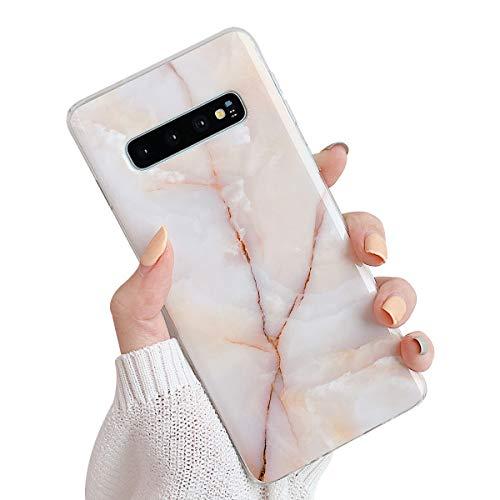 Suhctup Compatible pour Samsung Galaxy S9 Plus Marbre Coque de Protection Silicone [avec Fleurs Floral Glitter Bling Rose Gold Design Motif] Anti-Rayures Anti Choc Housse Étui(Or Rose)