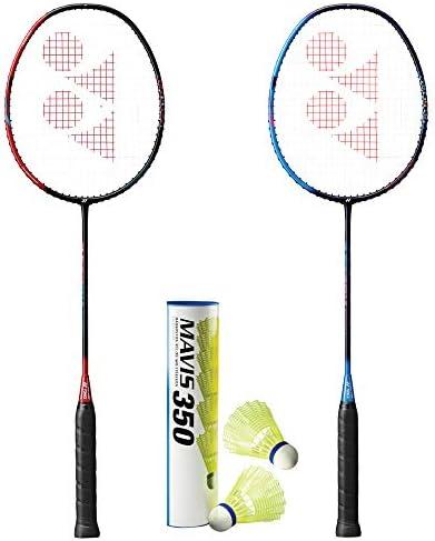 YONEX Astrox Smash 2 Rackets and 1 Tube of Mavis 350 Shuttlecock Badminton Combo Set product image